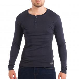 Bluză albastră elastică pentru bărbați House