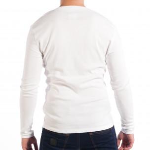Bluză House albă elastică pentru bărbați   2