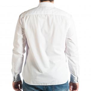 Cămașă cu mânecă lungă bărbați RESERVED albă  2