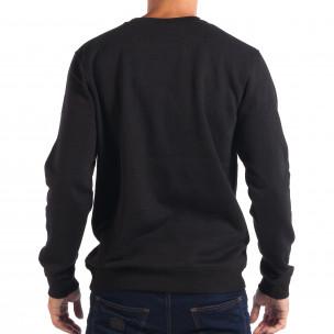 Bluză neagră pentru bărbați CROPP cu motiv Hip-Hop 2