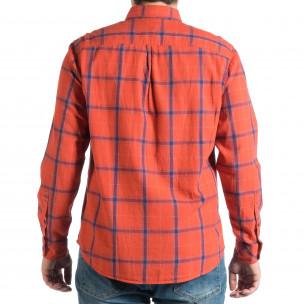 Cămașă cu mânecă lungă bărbați RESERVED roșie  2