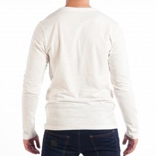 Bluză pentru bărbați RESERVED albă cu buzunar 2