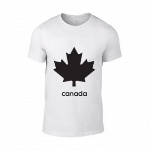Tricou pentru barbati Canada alb, mărimea S TEEMAN