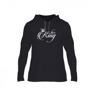Tricou pentru barbati King & Queen negru, Mărime S