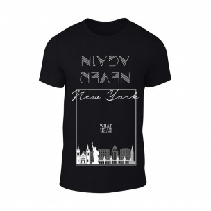 Tricou pentru barbati New York negru, mărimea M