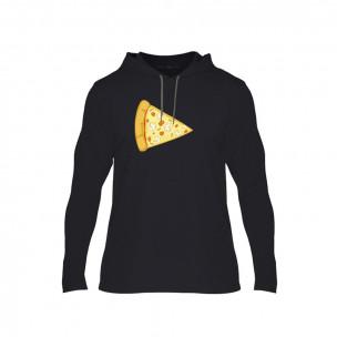 Hanorac pentru barbati Pizza negru, Mărime M