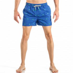 Costum de baie pentru bărbați albastru marin cu rechini
