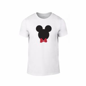 Tricou pentru barbati Mickey & Minnie alb, mărimea L