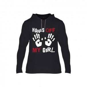 Tricou pentru barbati Hands Off negru, Mărime l