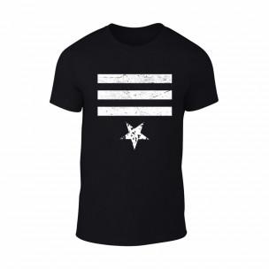 Tricou pentru barbati Star 3 negru, mărime XL