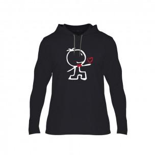 Tricou pentru barbati Love Gift negru, Mărime L