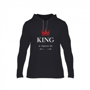 Hanorac pentru barbati King Queen negru, Mărime XL