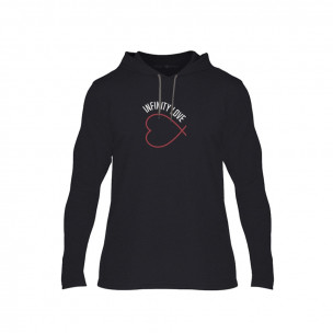 Tricou pentru barbati Infinity Love negru, Mărime XXL