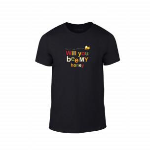 Tricou pentru barbati Bee & Honey negru, mărimea S