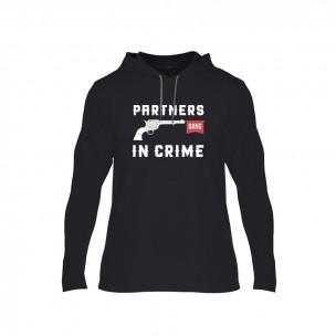 Tricou pentru barbati Partners in Crime negru, Mărime L