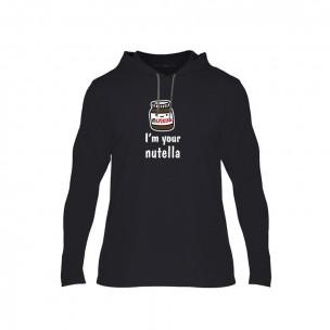 Tricou pentru barbati Nutella & Bread negru, Mărime L