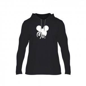 Tricou pentru barbati Mr. Mickey Mrs. Minnie negru, Mărime XL
