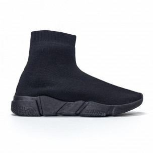 Adidași slip-on de bărbați negri All-black