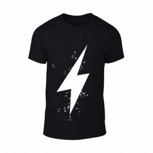 Tricou pentru barbati Thunder negru, mărimea XXL