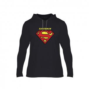 Hanorac pentru barbati Superman & Supergirl negru, Mărime S