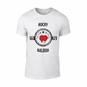 Tricou pentru barbati Balboa alb, mărimea XL