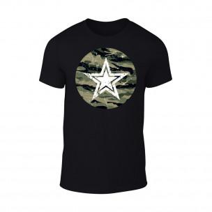 Tricou pentru barbati Star negru