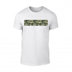 Tricou pentru barbati Military alb