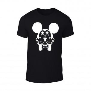 Tricou pentru barbati Mickey negru TEEMAN