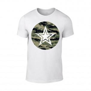 Tricou pentru barbati Star alb