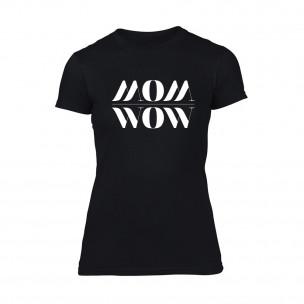 Tricou de dama Mom Wow negru