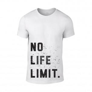 Tricou pentru barbati No Life Limit alb
