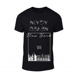 Tricou pentru barbati NY negru TEEMAN