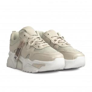 Pantofi sport de dama Sweet Shoes bej 2