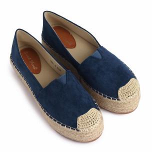 Espadrile de dama Sweet Shoes albastră 2