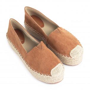 Espadrile de dama Sweet Shoes camel 2