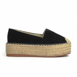Espadrile de dama Sweet Shoes neagră