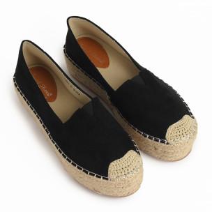 Espadrile de dama Sweet Shoes neagră 2