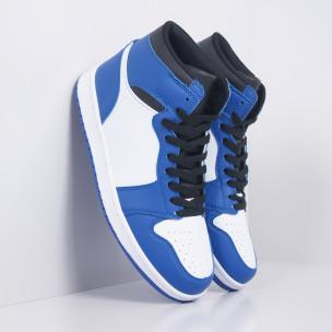 Teniși înalți de bărbați în albastru și alb