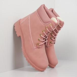 Botine de dama roz cu căptușeală