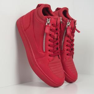 Teniși roșii cu șagrin pentru bărbați  Gianni