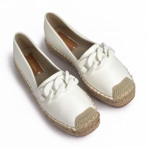 Espadrile de dama Mellisa albă