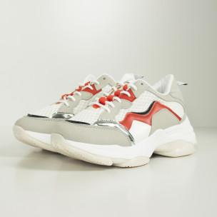 Pantofi sport de dama combinați cu accente