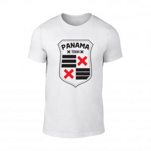 Tricou pentru barbati Panama alb TEEMAN