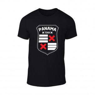 Tricou pentru barbati Panama negru TEEMAN
