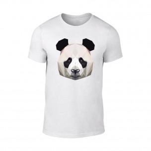 Tricou pentru barbati Panda alb
