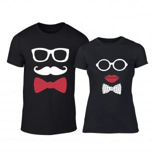 Tricouri pentru cupluri Hipster Parts negru