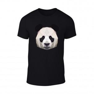 Tricou pentru barbati Panda negru TEEMAN