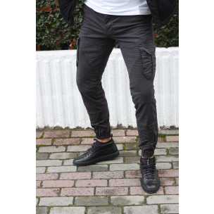 Pantaloni cargo bărbați Blackzi gri Blackzi