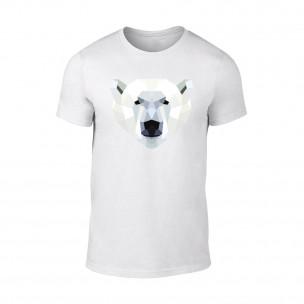 Tricou pentru barbati Polar Bear alb