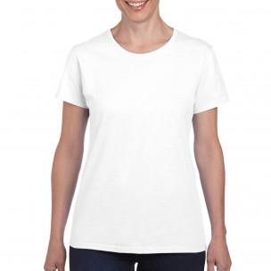 Tricou Basic de damă alb din bumbac